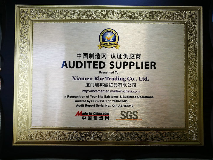 SGS Audited Supplier Medals