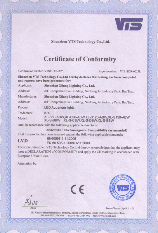 LED Aquarium Lights CE Certification