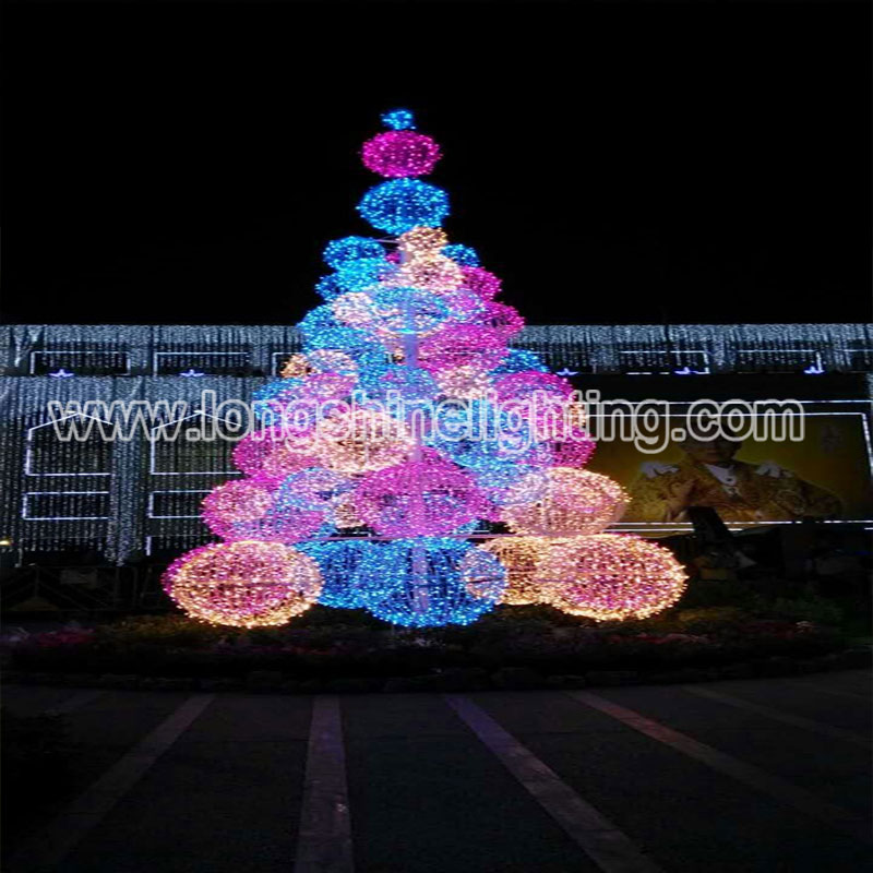 LED Outdoor Ball Tree decoration Project
