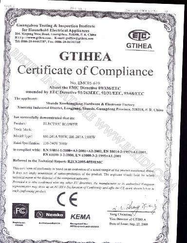 CE Certificate of Compliance-2