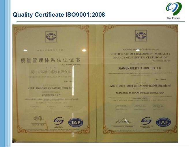 Quality Certificate ISO9001:2008
