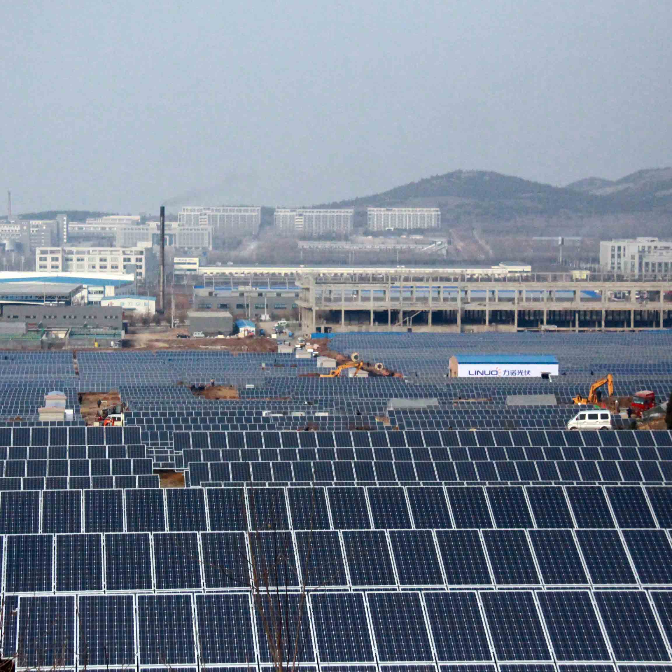 Solar power plant in Industrial park