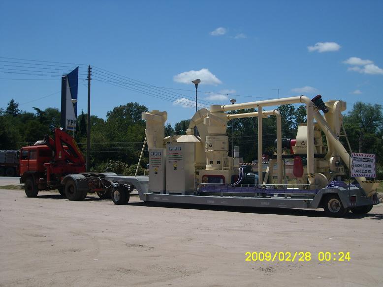 Mobile wood pellet plant in Argentina