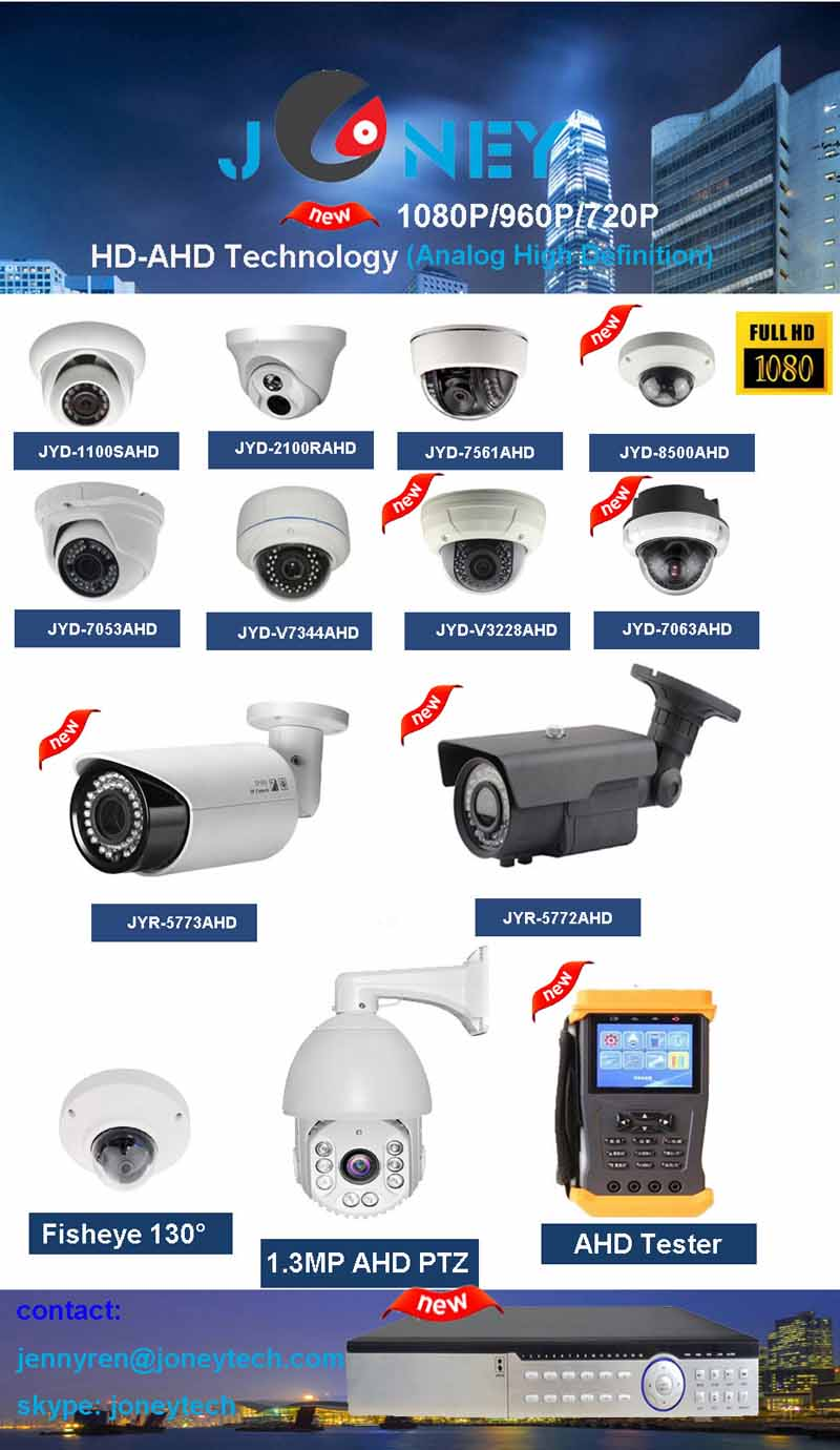 High quality 720P/960P/1080P HD-AHD Camera system