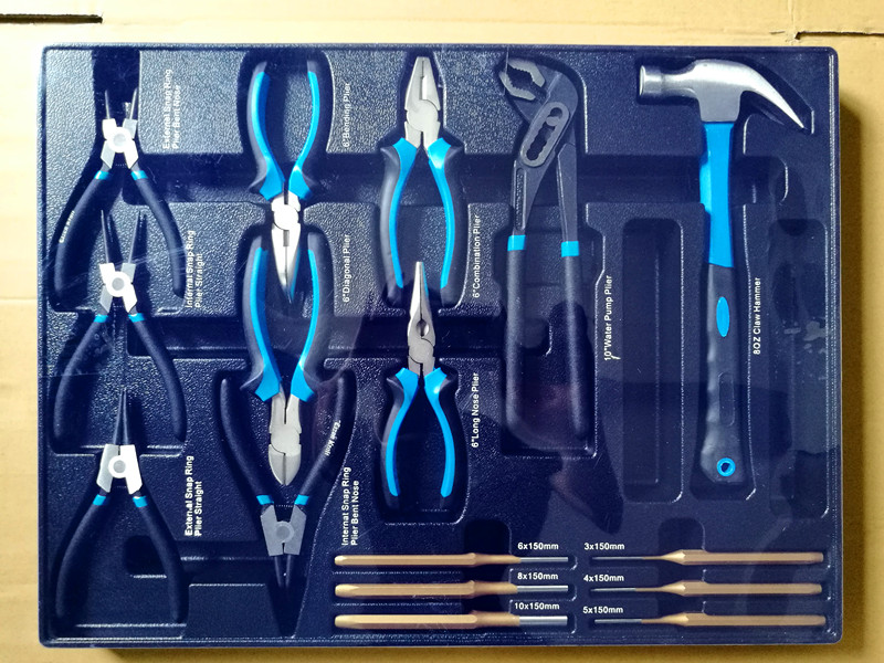 16PCS PROFESSIONAL PLIERS TOOL SET IN PLASTIC TRAY