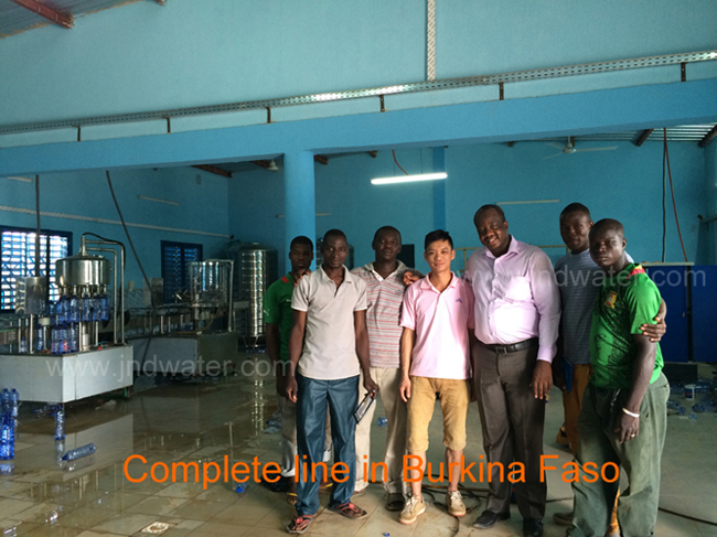 Our engineers installed machines in customer's Water Line in Burkina Faso