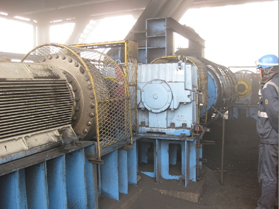 in 2013 December, the plant energy saving clutch (backstop) in China Qinhuangdao coal terminal insta