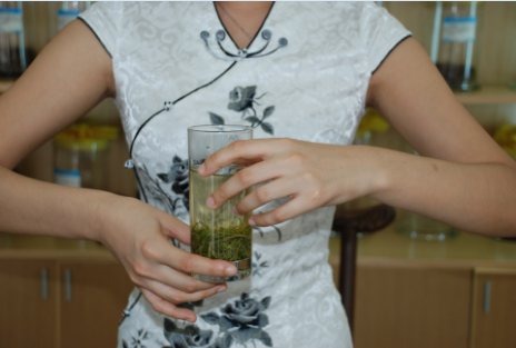 Green Tea brewing art Step 8