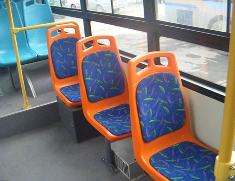 Bus seat installation effect