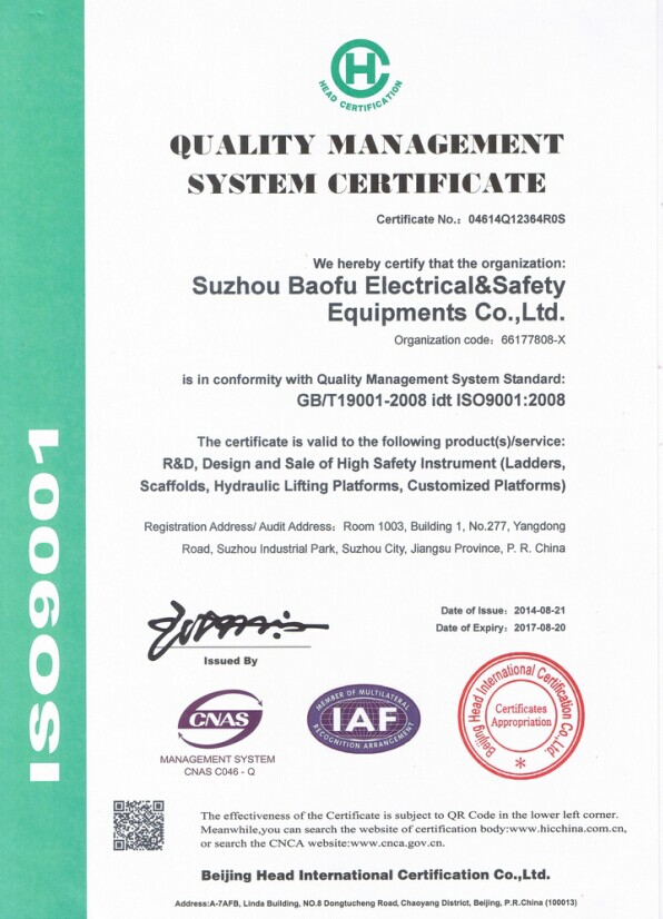 Quality Management System: ISO9001:2008