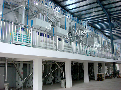 100TPD complete rice mill installed in Bukrkina Faso