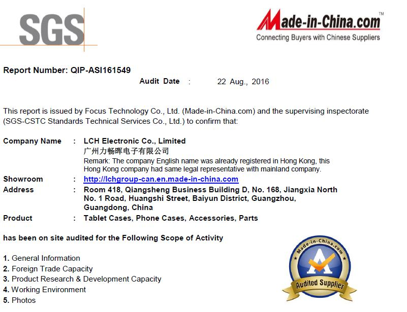 SGS Certification Audited Supplier