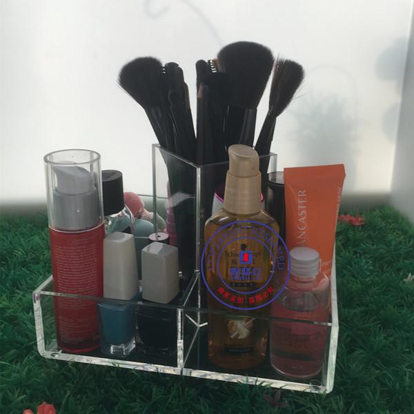 Vanity acrylic brush display holder stand