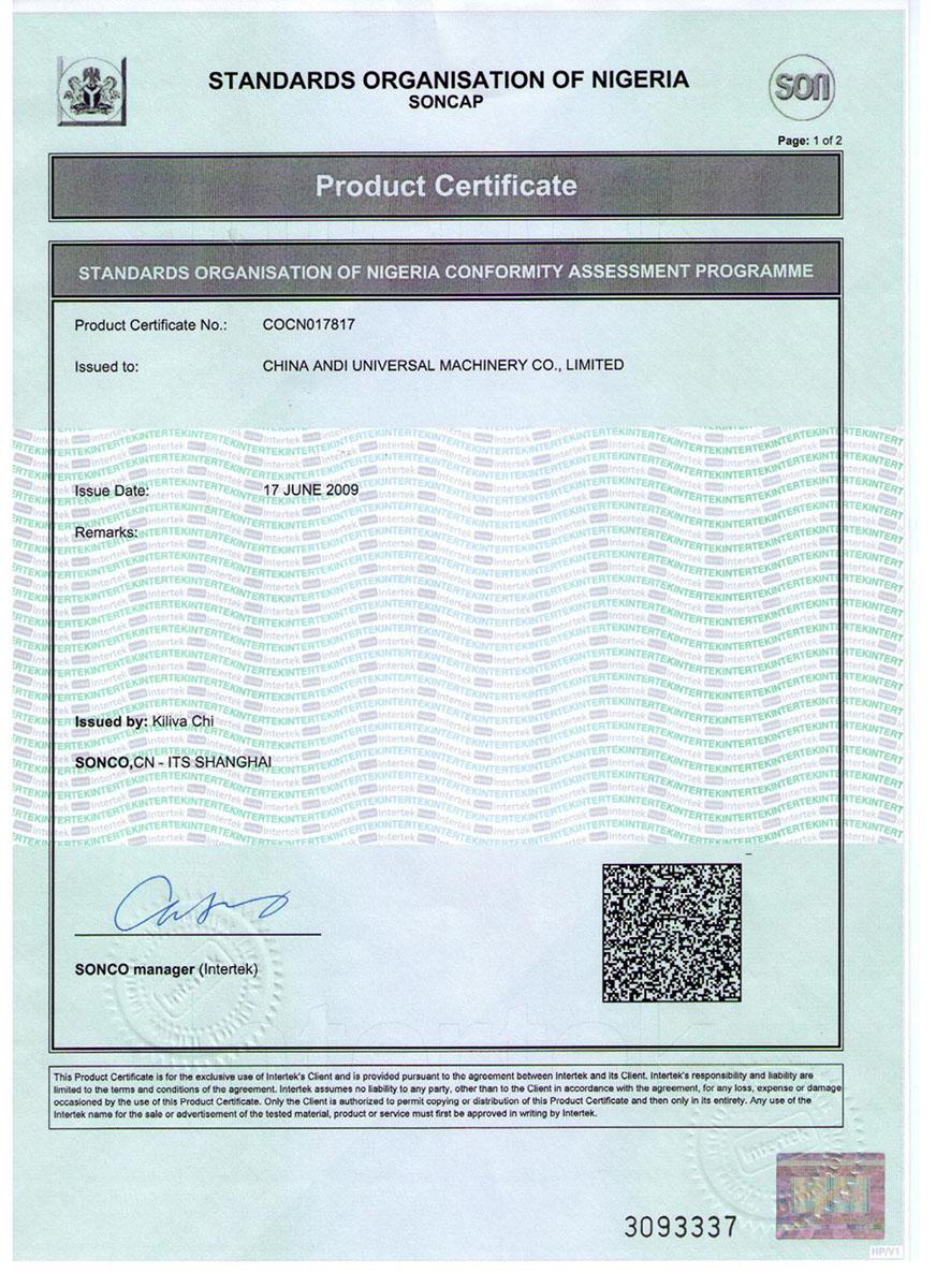 SONCAP Certification