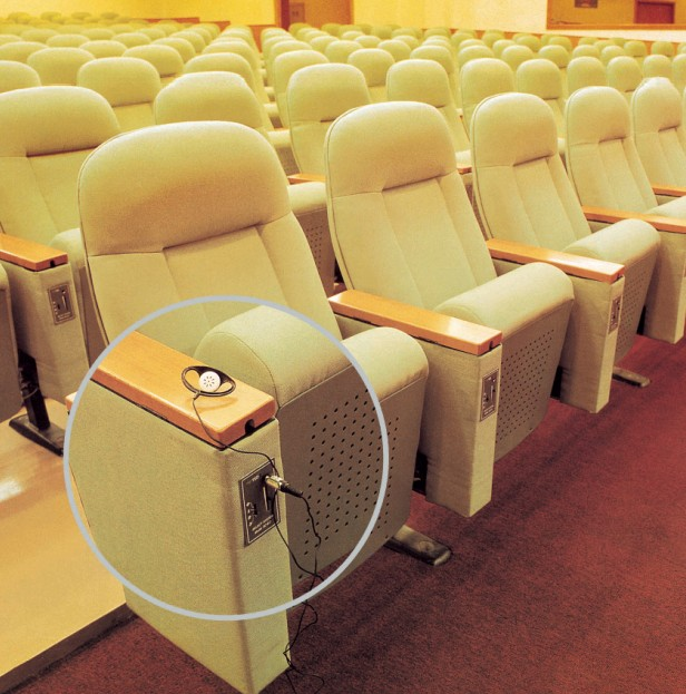 THEATER CHAIRS WITH MIC AND EARPHONE JACK