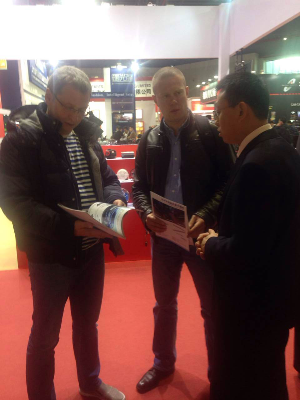Client Meeting in Automechanika-Lat