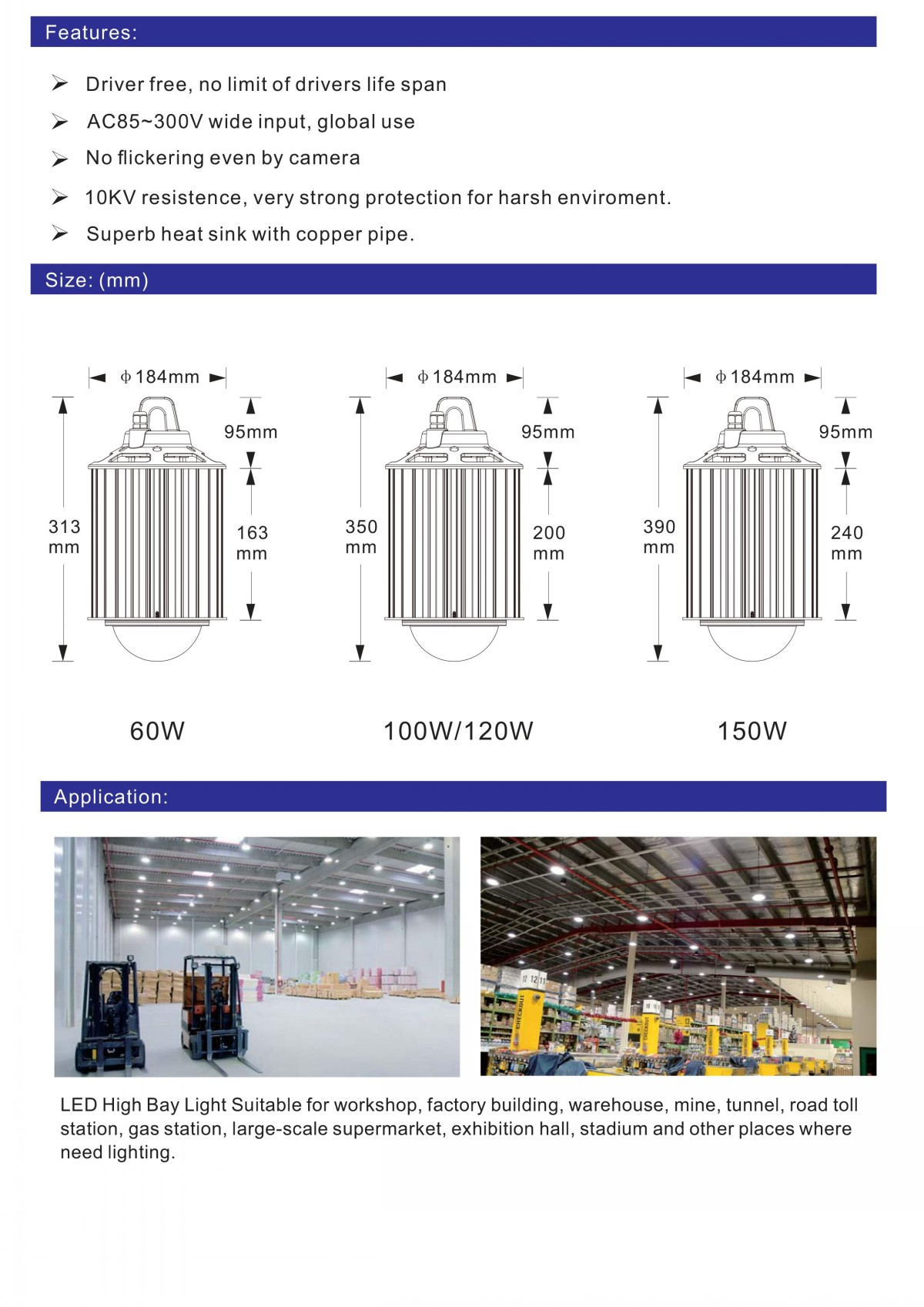 driverless led bay light data sheet 0002