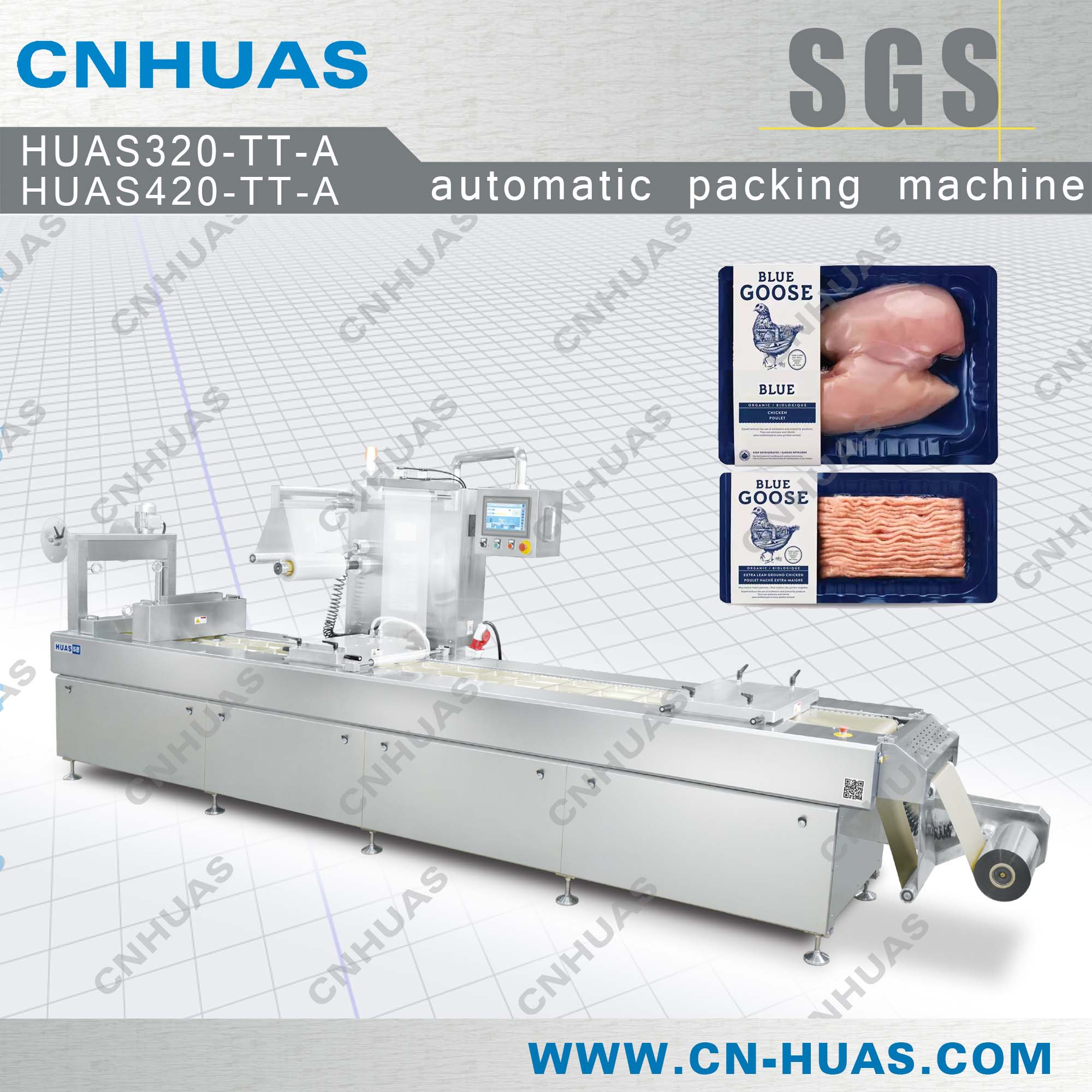 Vacuum Skin Packing Machine for Chicken