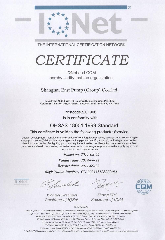 OHSAS18001-1999