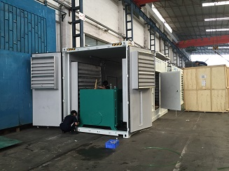 Container type generator 1250kva on assebmly