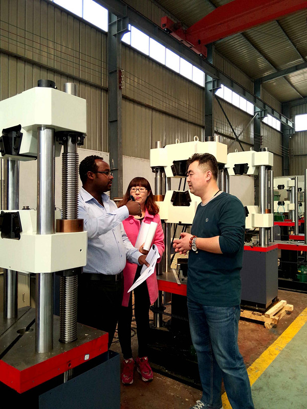 Welcome foreign customer visit our facotory