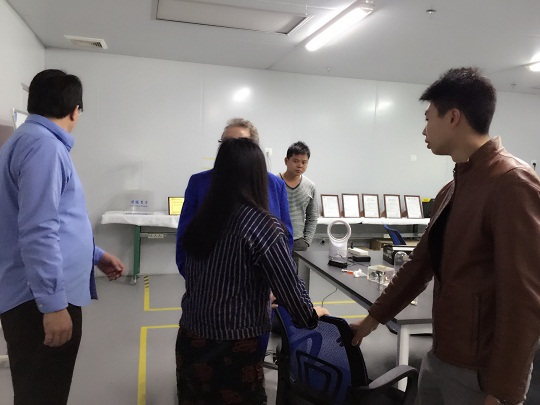 US. famous big brand customer visited our factory