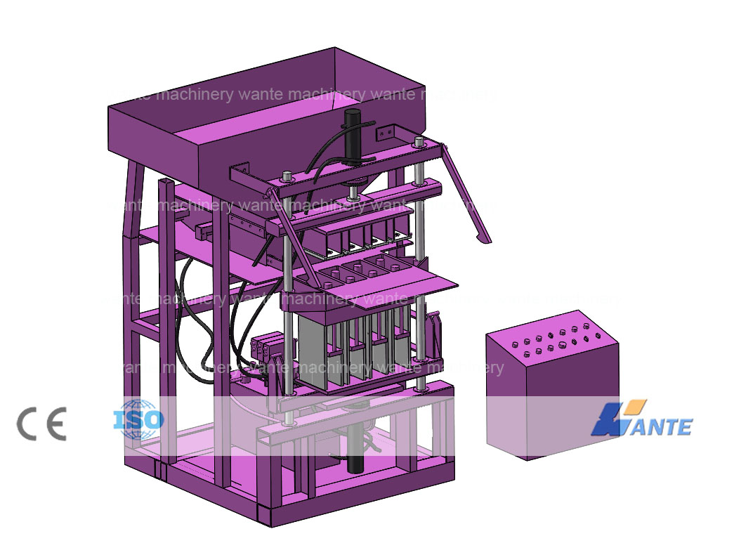 New products:WT4-10 interlocking brick machine