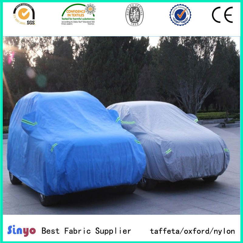 Professional Pu&Silver coated Taffeta fabric for Car body covers