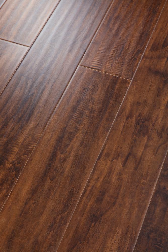 8.3mm 12.3mm U groove handscraped HDF Laminated Flooring