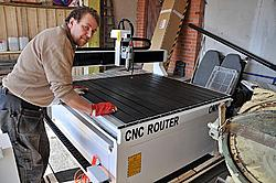 Aivaras Norbutas from Lithuania received cnc router and laser machine from OMNI
