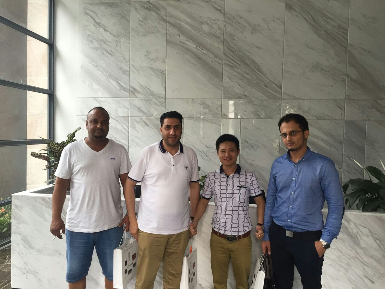 Client from Middle East visit CSPOWER battery factory