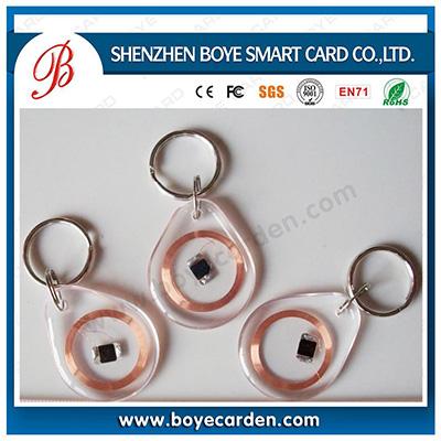 Transparent Tk4100 Keyfob RFID Tag