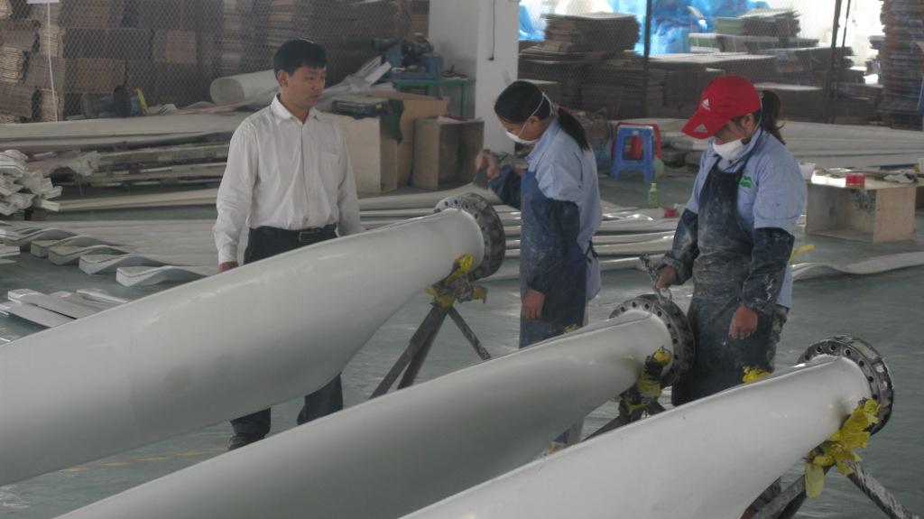 OUYAD wind turbine blades workshop