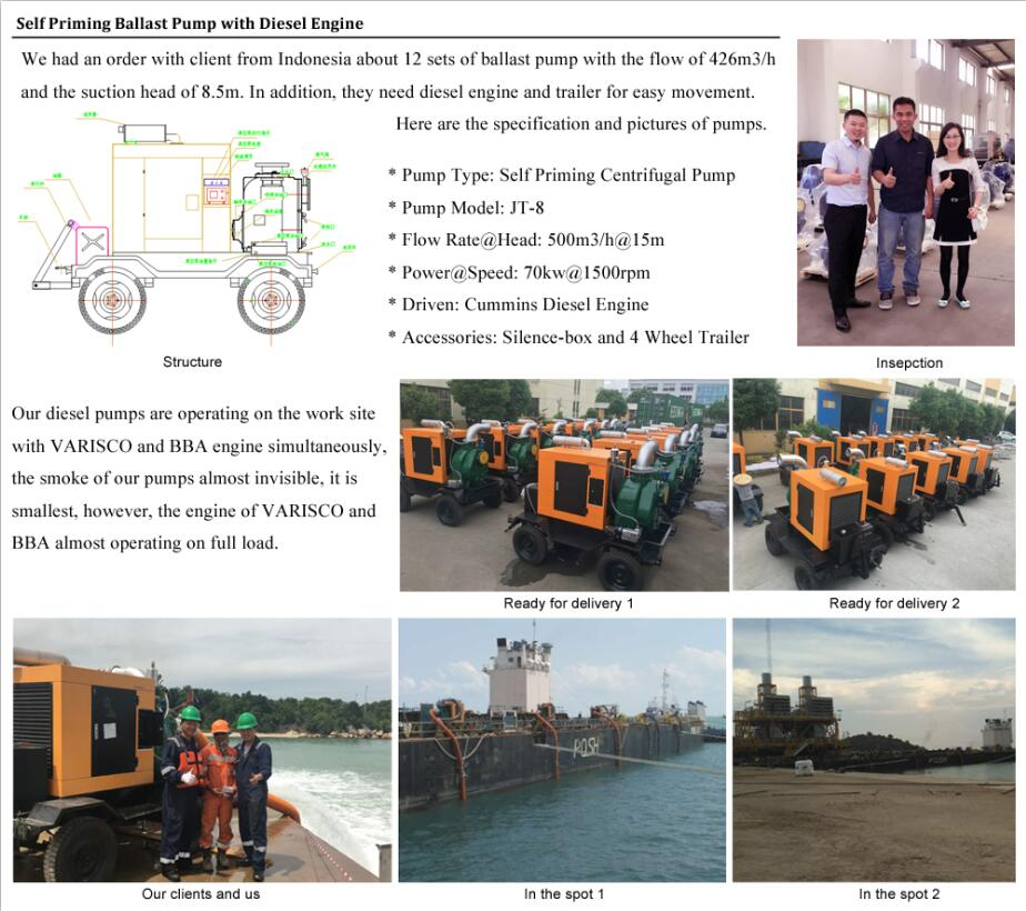 True Case of Self Priming Ballast Pump in Indonesia