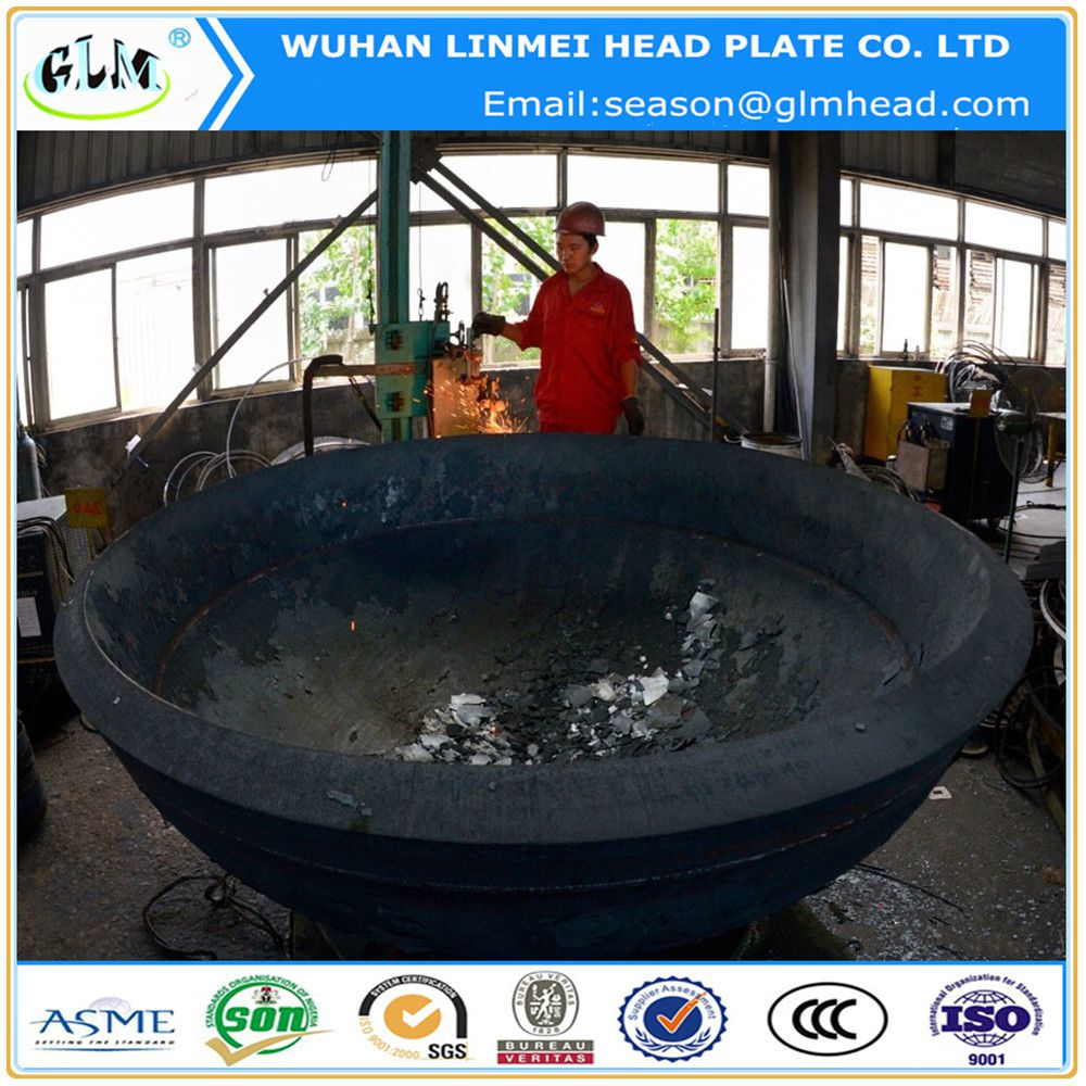 Carbon Steel Super Thick Hemispherical Head For Boilers