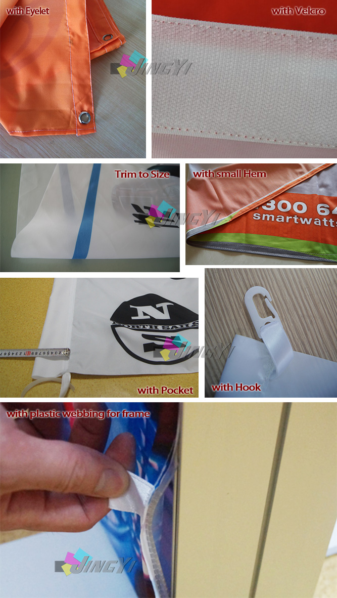 Finishings of Fabric Banner