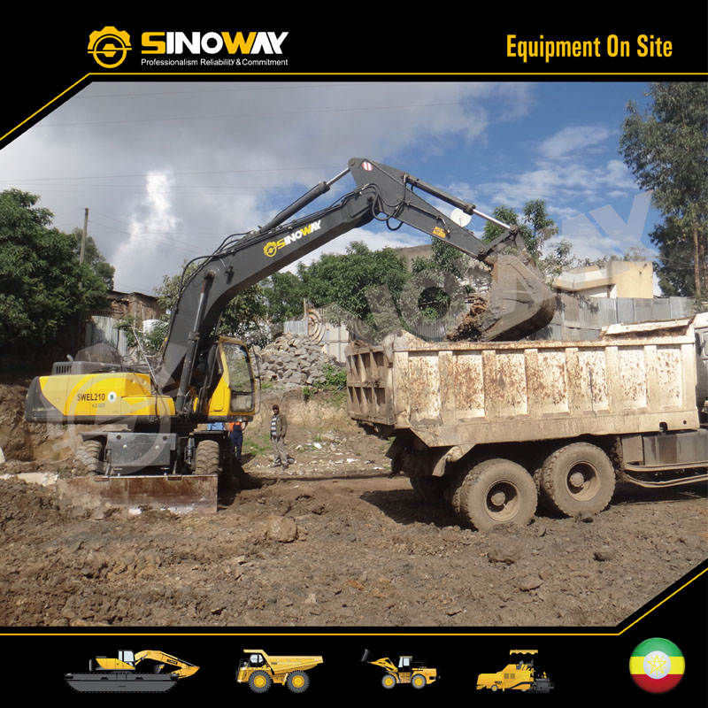 Wheel Excavator in East Africa