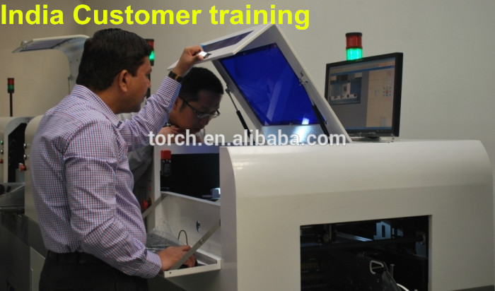 India Custome train for SMT PCB Production Line in 2014!