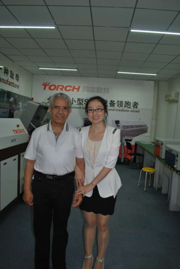 Tunisia Customer Visited our factory in 2013!