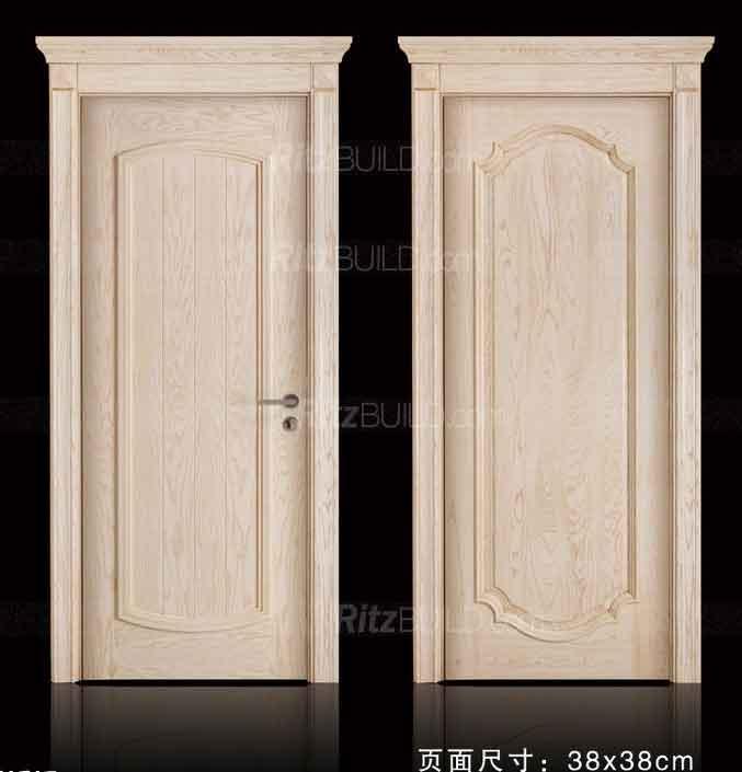 Home Furniture MDF Solid Wood New Popular Design Hot Selling Single Security Doors / PVC Wooden Door