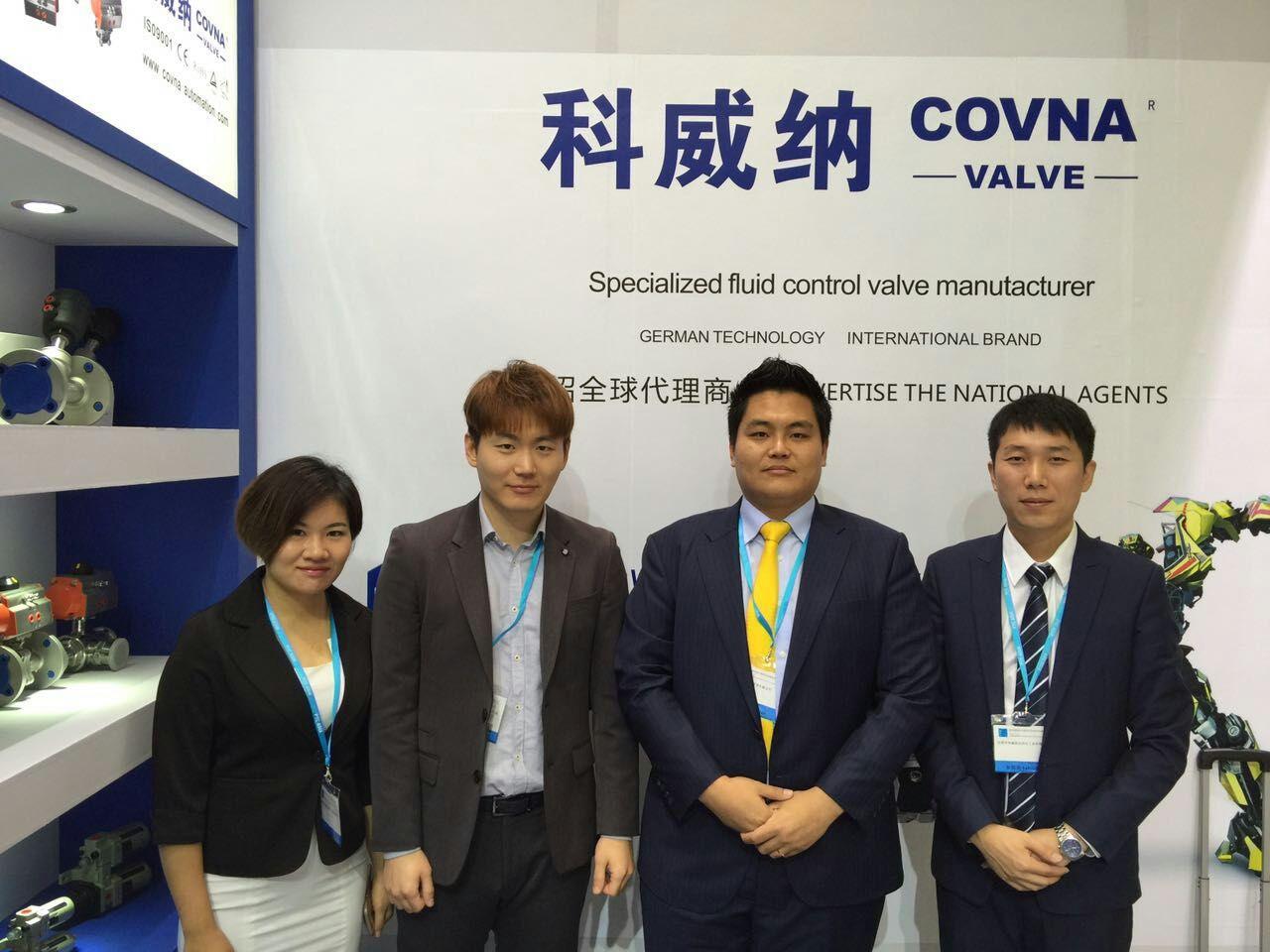 Photo with Korea customers