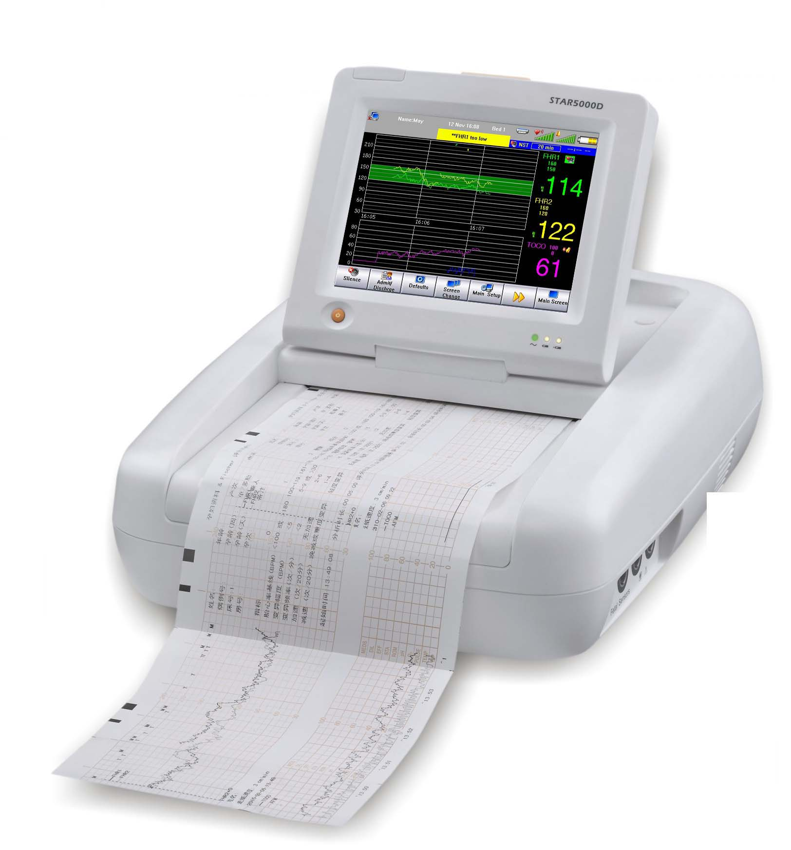 Ultrasound Doppler Twins Touchscreen Fetal Monitor with Ce
