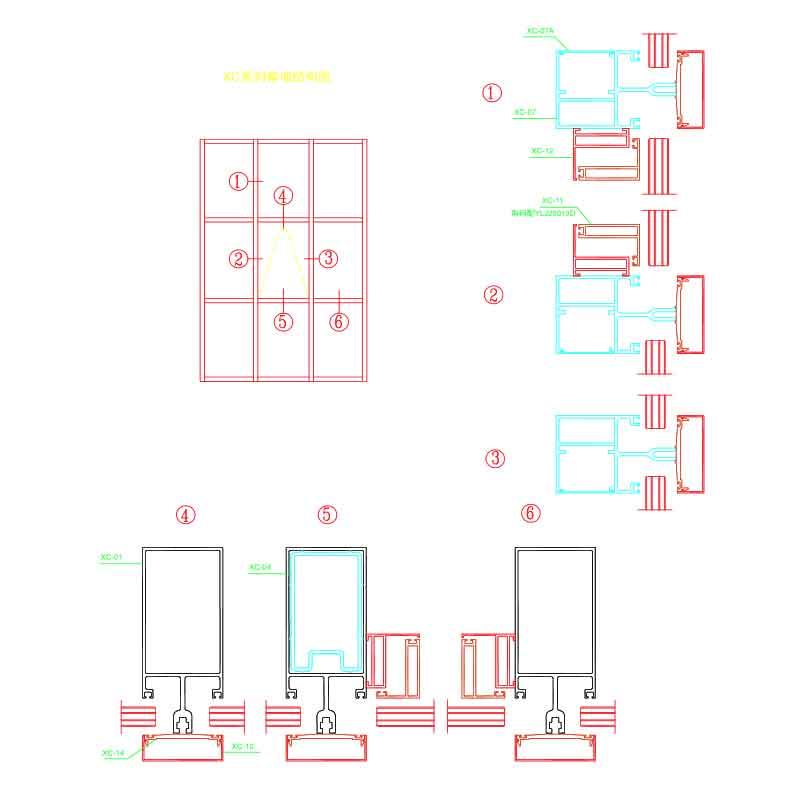 XC Aluminium Curtain Wall System