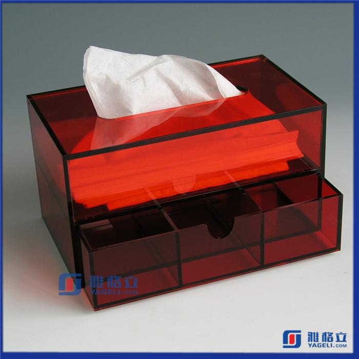 OEM acrylic tissue box organizer