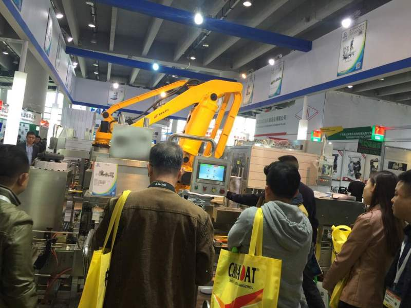 Huixintech Filling line shows in 2016 Chinacoat exhibition