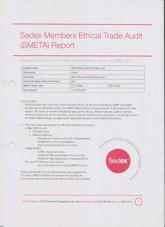 Eedex Members Ethical Trade Audit Report