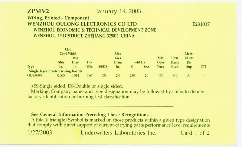 American UL Certificate