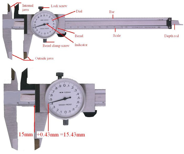 how to read a dial caliper anyi instrument co ltd. Black Bedroom Furniture Sets. Home Design Ideas