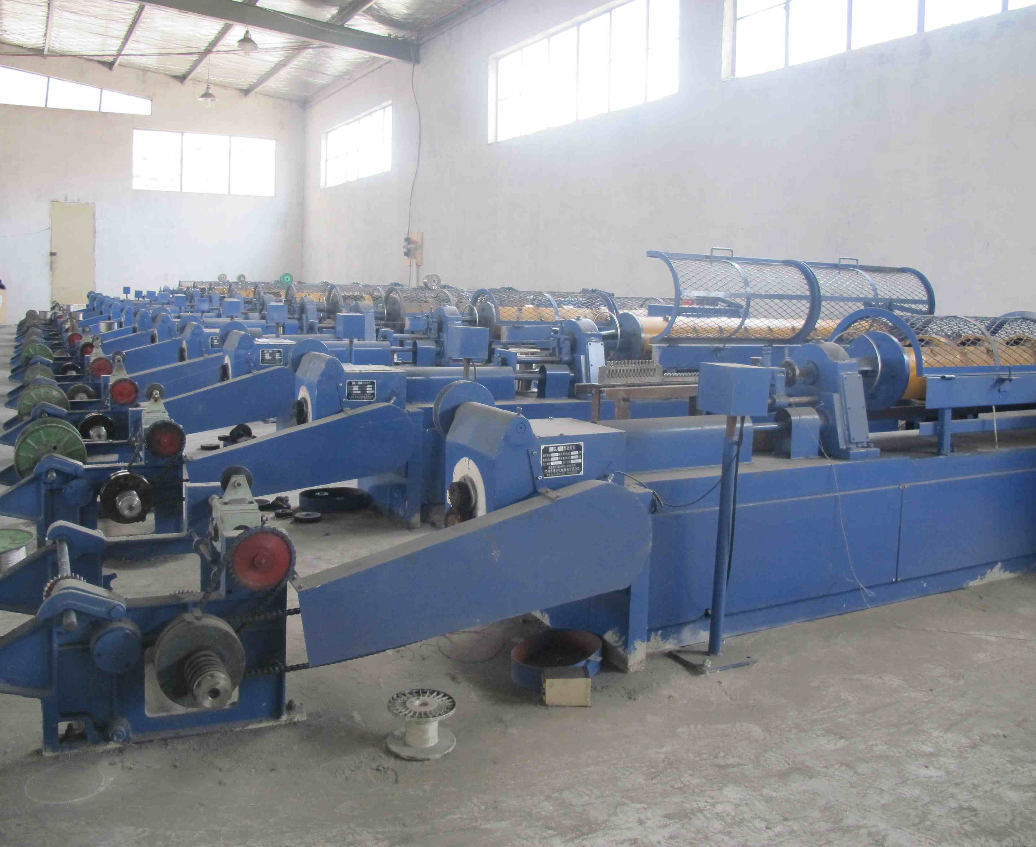 new machine mainly produce small size wire rope