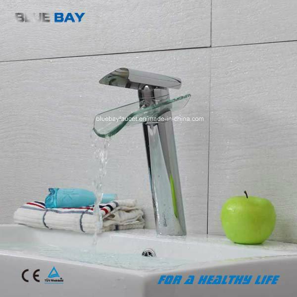 glass waterfall basin tap